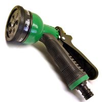 Hose Pipe Watering Spray Gun / Nozzle 6 Function Rubber ...