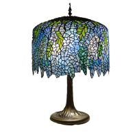 TIFFANY STYLE WISTERIA BLUE TABLE LAMP LIGHT LAMPS NEW | eBay