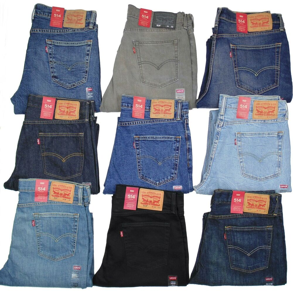 Jeans Levis Levis 514 Mens Jeans Slim Fit Straight Leg Many Colors ...