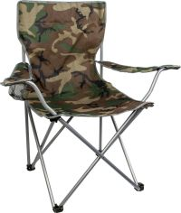 Highlander Camping Fishing Folding CHAIR with ARMS Camo ...