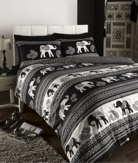 EMPIRE INDIAN ELEPHANT ANIMAL PRINT KING BED DUVET QUILT ...