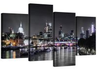 Canvas Wall Art of London Skyline for your Living Room - 4 ...