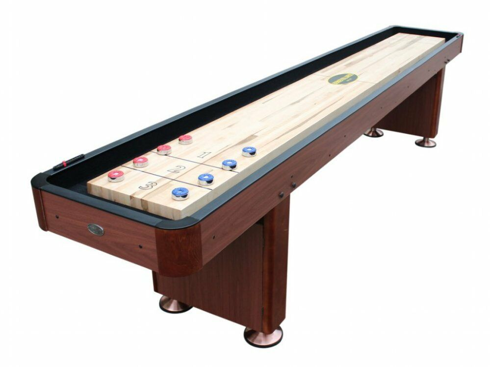 "9 foot SHUFFLEBOARD TABLE ""THE STANDARD"" in CHERRY"
