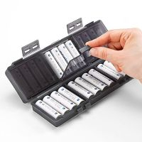 For Rechargeable Eneloop AA Battery Storage Case 24 AA