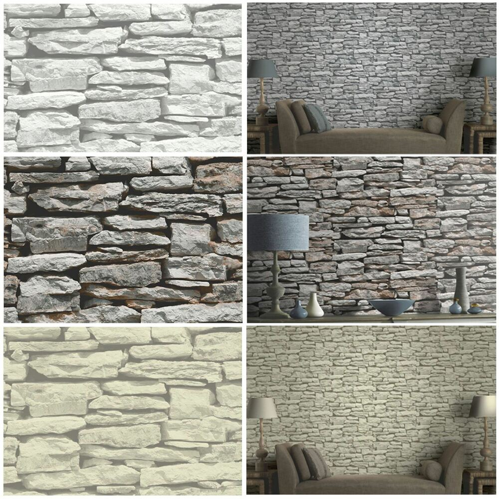 3d Stone Wallpaper For Walls Moroccan Wall Natural Slate Stone Wallpaper By Arthouse