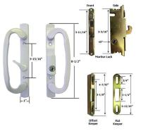 Sliding Glass Patio Door Handle Kit Mortise Lock and ...
