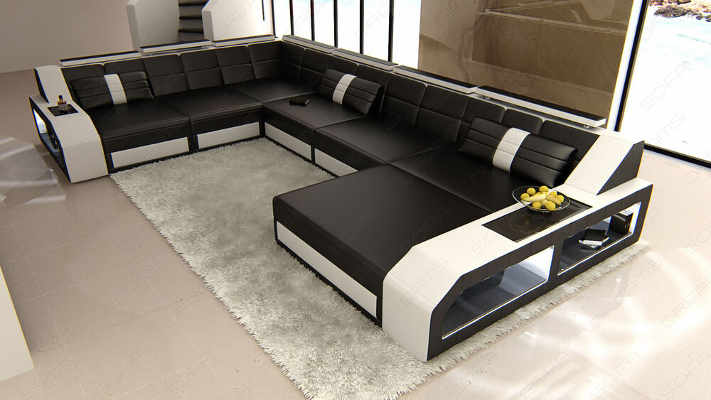 Sofa Led Xxl Sectional Leather Sofa Matera With Led Lights - Colour