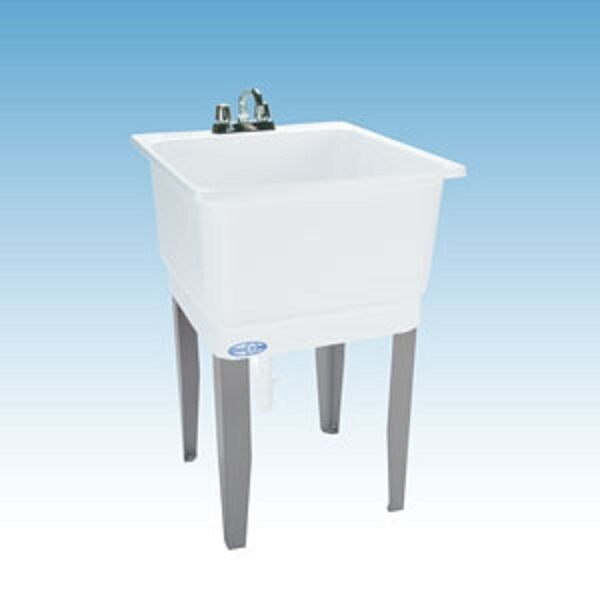 New El Mustee Son 14 White Laundry Tub Sink Utility