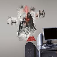 New Giant STAR WARS THE FORCE AWAKENS VILLAINS WALL DECALS ...