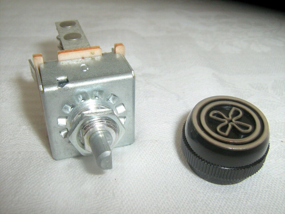 AIR CONDITIONING 3 SPEED BLOWER SWITCH WITH RESISTOR  KNOB, INDAK