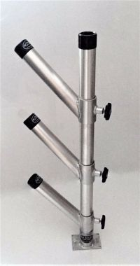 Rod Holder Adjustable Tree Triple Unit with Base. Aluminum ...