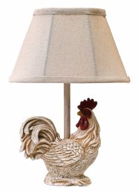 """TABLE LAMPS - """"STANDING PROUD"""" ROOSTER ACCENT LAMP - WHITE ..."""