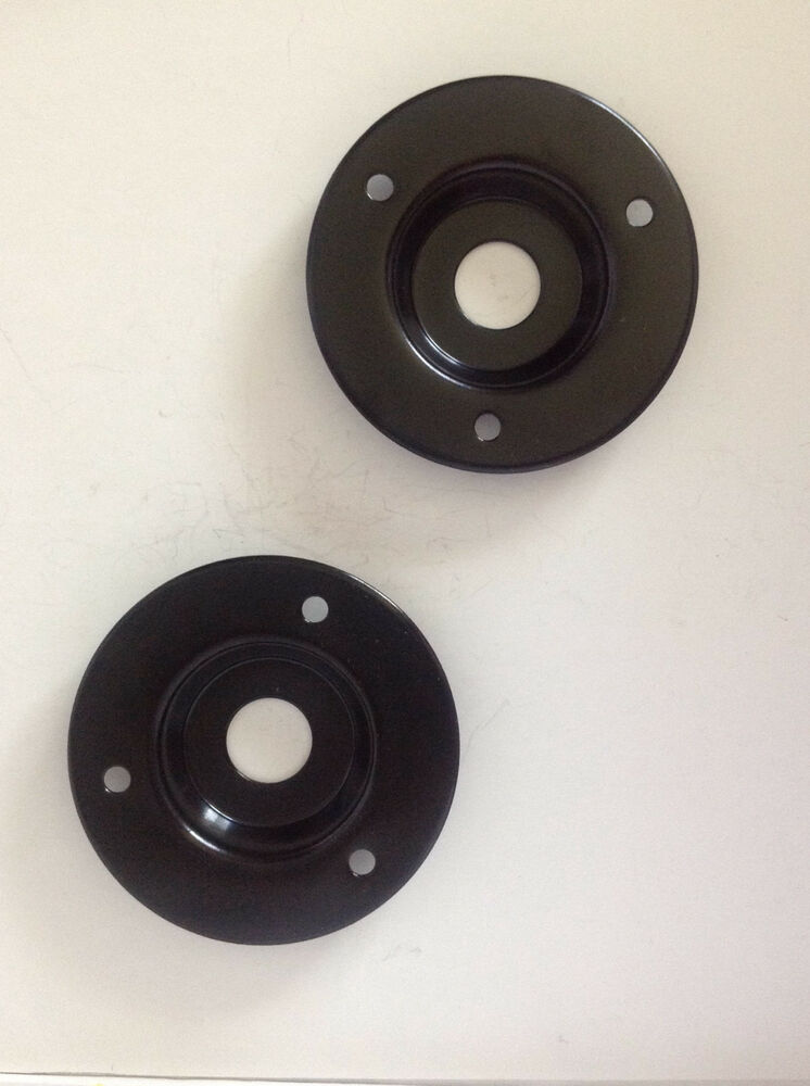 2 Pack Round Black Metal 1 4quot Speaker Jack Plate For