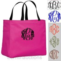 6 Bridal Party Tote Bags Personalized Monogrammed Bride ...