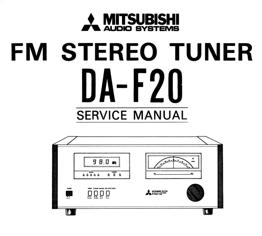 mitsubishi da f20 owner s manual