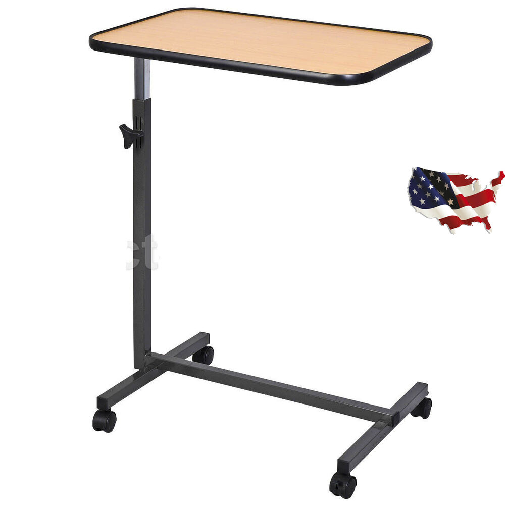 Overbed Rolling Table Over Bed Laptop Food Tray Hospital