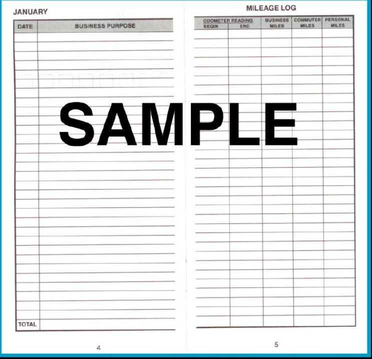 DOME DELUXE AUTO CAR MILEAGE LOG FOR AUTO USED FOR BUSINESS PURPOSES