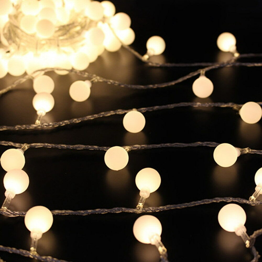5m 164ft Globe Ball Patio String Lights Fairy Warm White