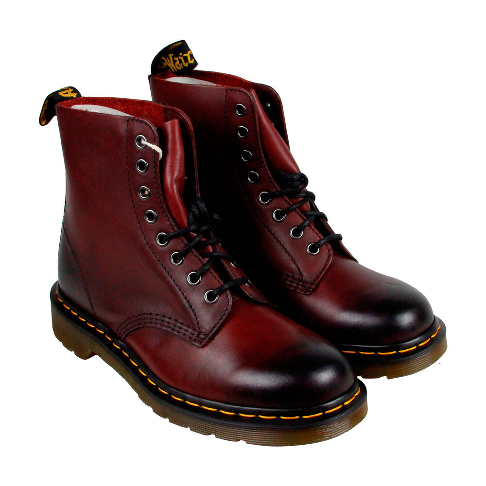 Dr Martens Pascal Mens Burgundy Leather Casual Dress Lace