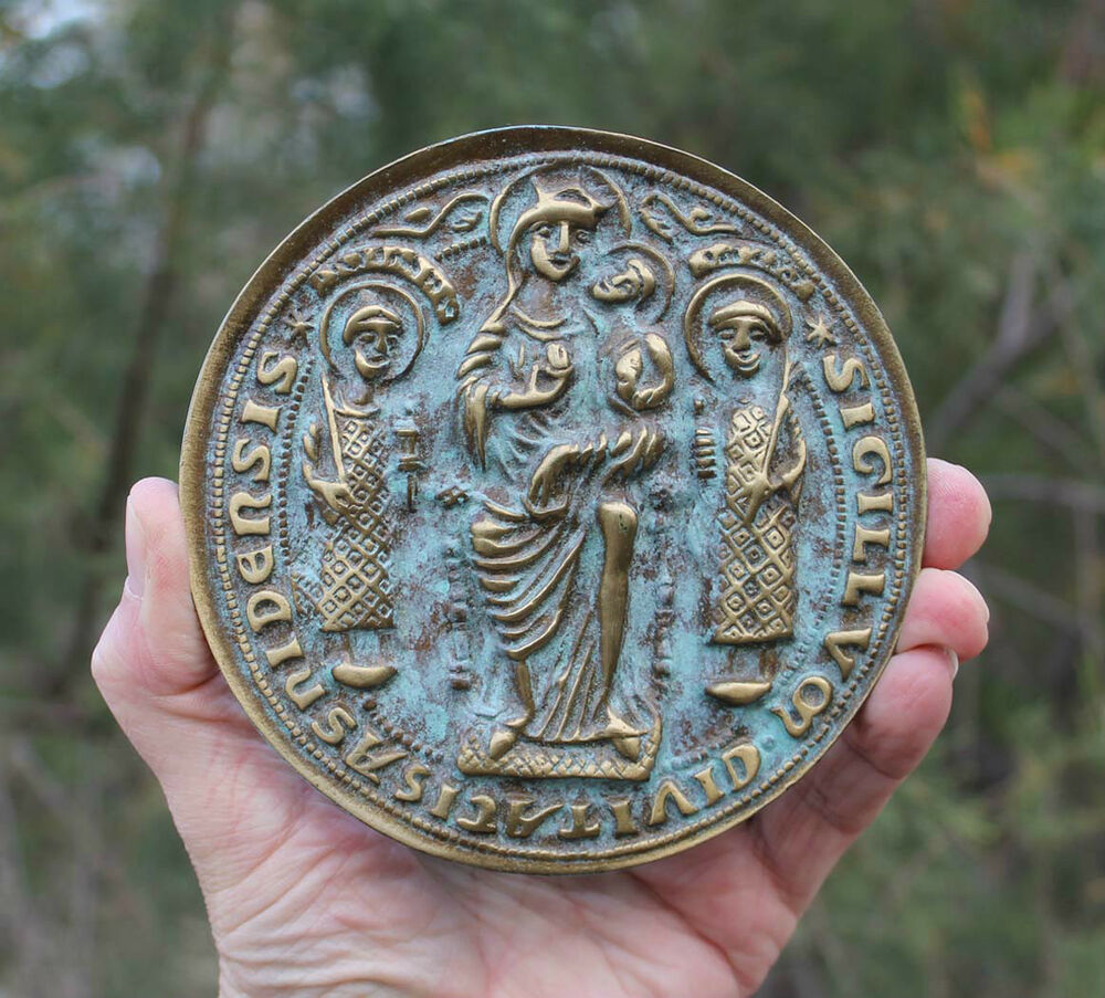 Ebay Essen Medaille Medieval Seal Of Essen St Cosmas And Damianus Germany
