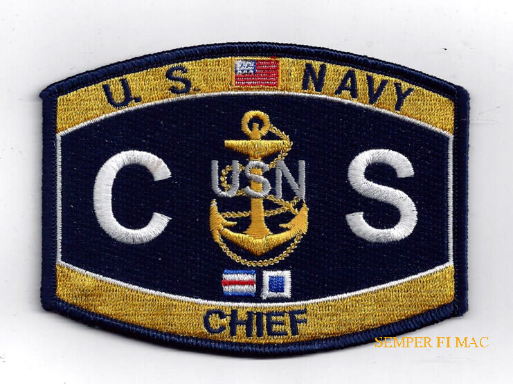 Chief Culinary Specialist CSC RATING HAT PATCH US NAVY VETERAN COOK