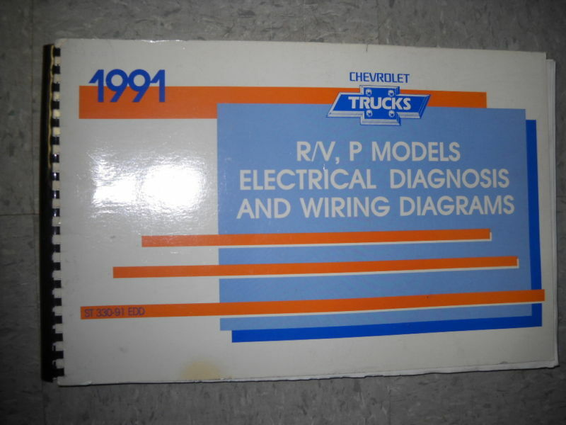 1991 Chevy Truck R/V P MODELS TRUCK Electrical Wiring Diagram