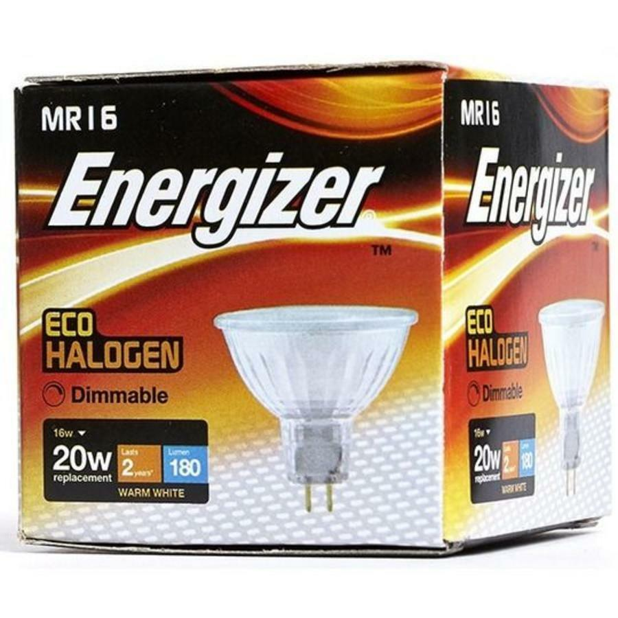 Halogen Spotlight Bulbs X 20 Energizer 16w 20w Halogen Mr16 Spotlight Bulb 12v Warm White 3000k 5050028027140 Ebay
