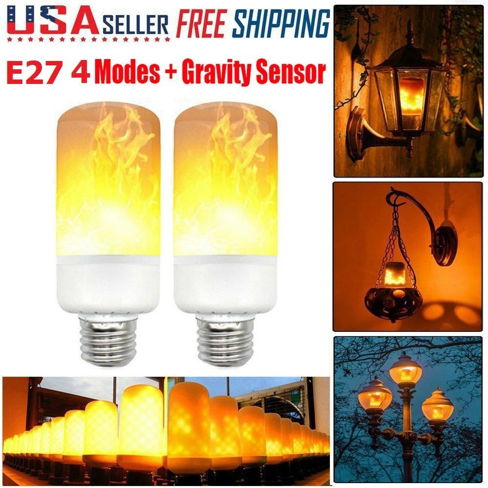 Flame Led Lamp E27 5w Burning Flicker Flame Effect Fire Led Light Bulbs E27 Xmas Decor Lamp Lot Ebay