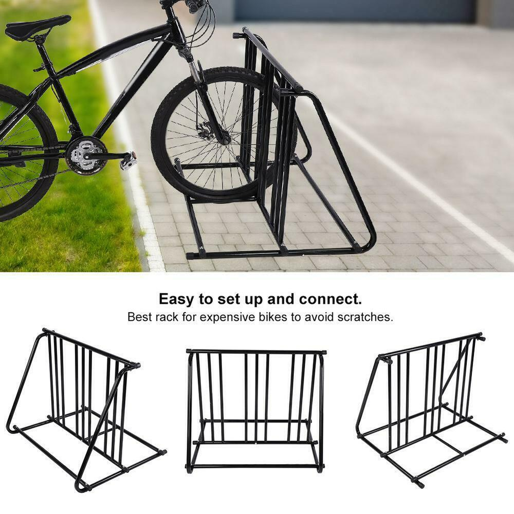 Parking Garage Bike Rack 1 6 Bike Bicycle Stand Parking Garage Storage Organizer Cycling Steel Rack Black 763741293871 Ebay