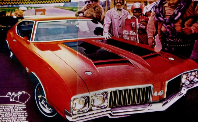 1970 Oldsmobile 442 W25 Cutlass Dr Olds Original Ad Poster