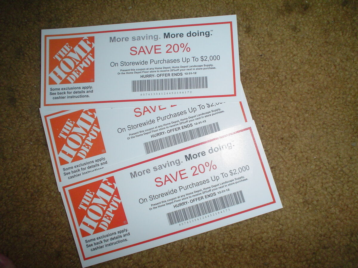 Home Depot Discount Home Depot Coupons Printable