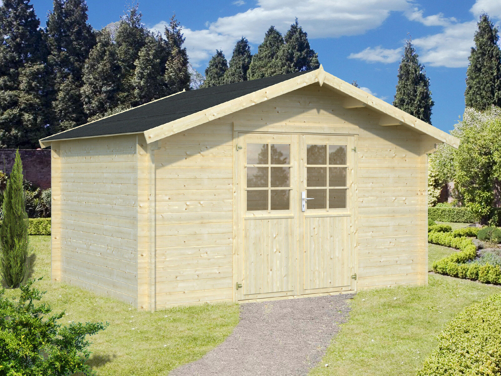 Gartenhütte Holz 34 Mm Summerhouse Greta Approx 4x3 M Shed Block House