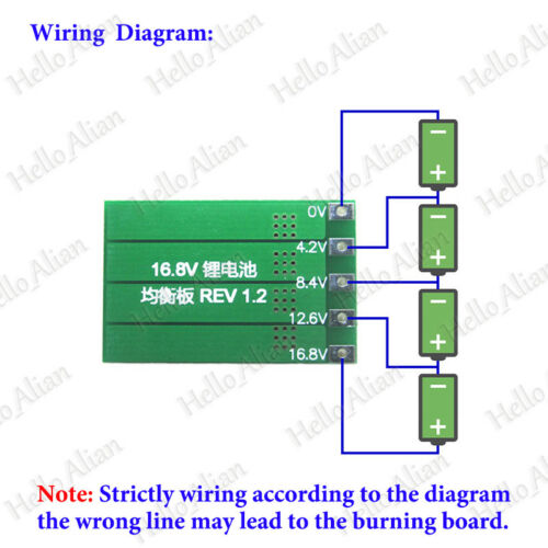 4S 4 Cell 148V 168V 18650 Li-ion Lithium Battery Charger Module