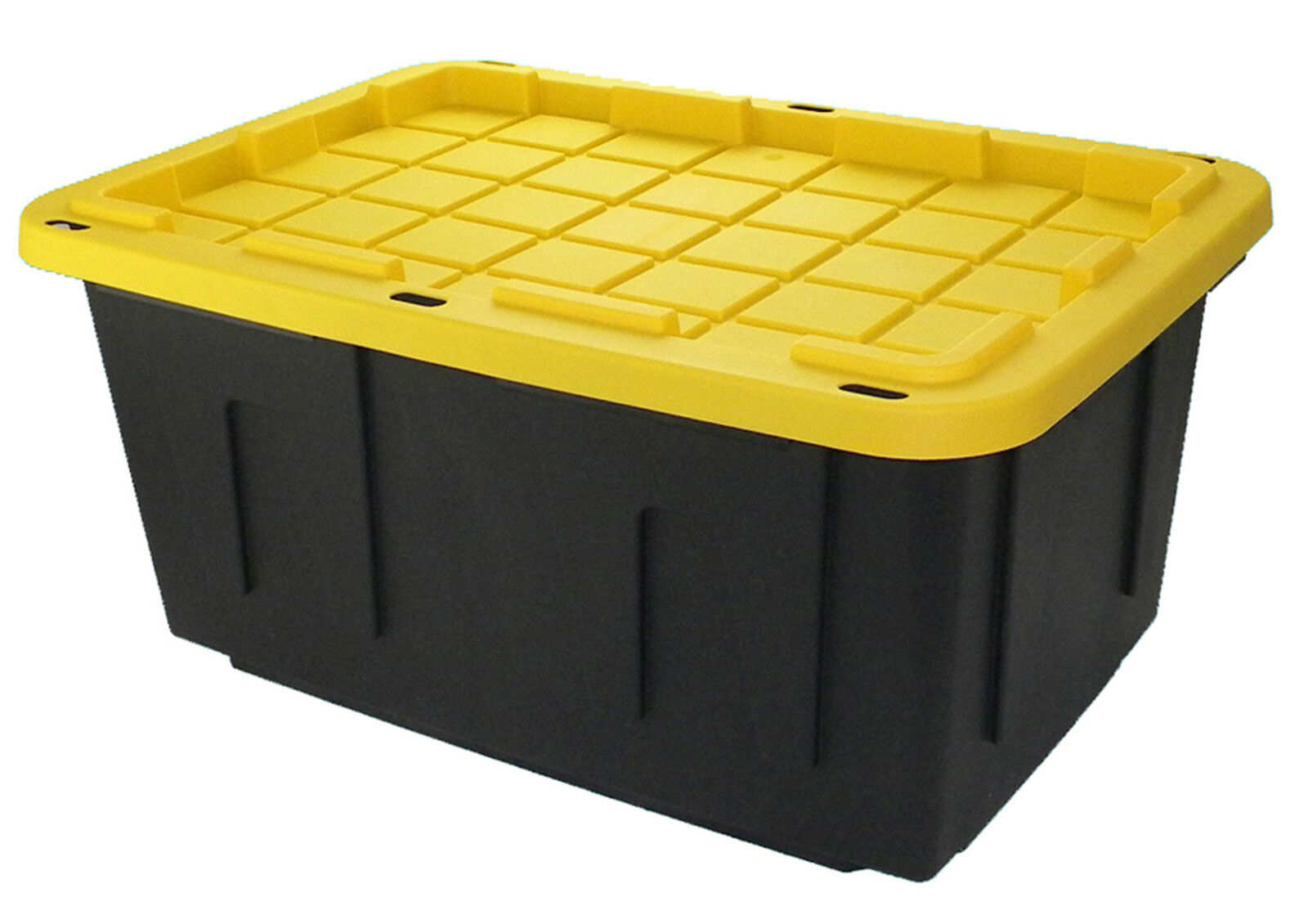 Garage Storage Boxes Heavy Duty Large 26x18x12 15gallon Industrial Plastic