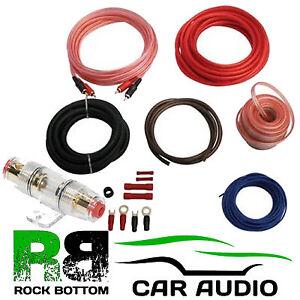 800 watt complete 8 awg gauge car amplifier amp wire sub subwoofer