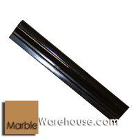 Black Absolute Chair Rail Molding Bullnose Granite Tile