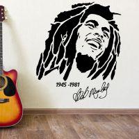 BOB MARLEY 1945 1981 vinyl wall art sticker decal | eBay