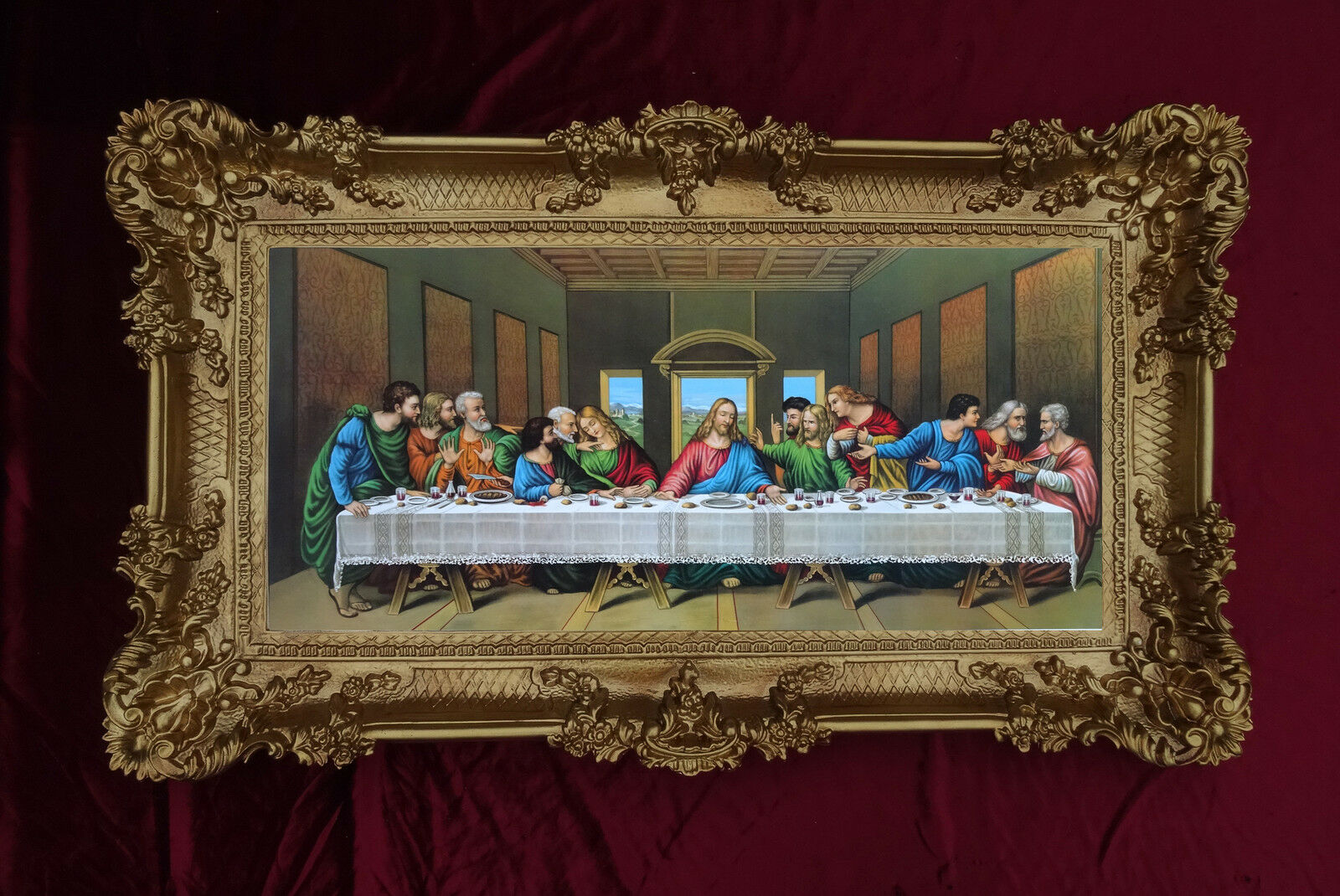 Exclusive Stehlampen Baroque Painting Last Supper 12 Apostle Ultima Cena