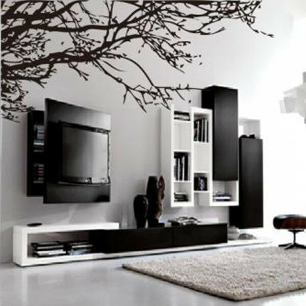 black tree wall sticker removable decal room wall sticker ebay black flower wall stickers black flower wall stickers