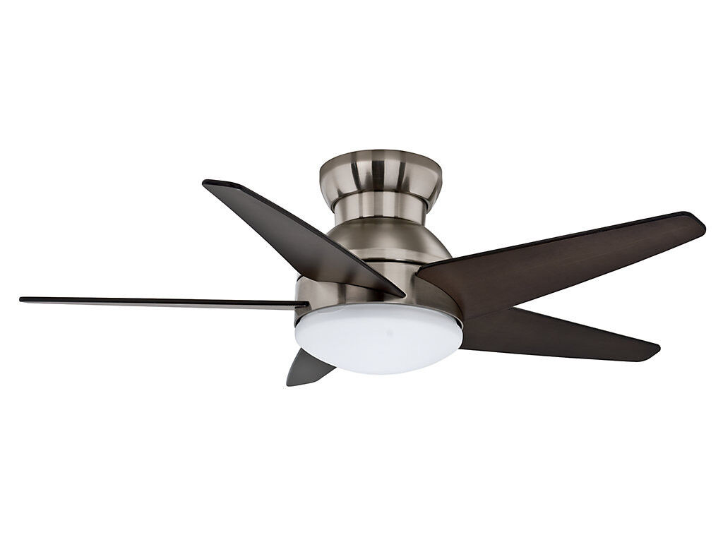 Contemporary Ceiling Fans Brushed Nickel Casablanca 44 Quot Isotope Brushed Nickel Hugger Modern