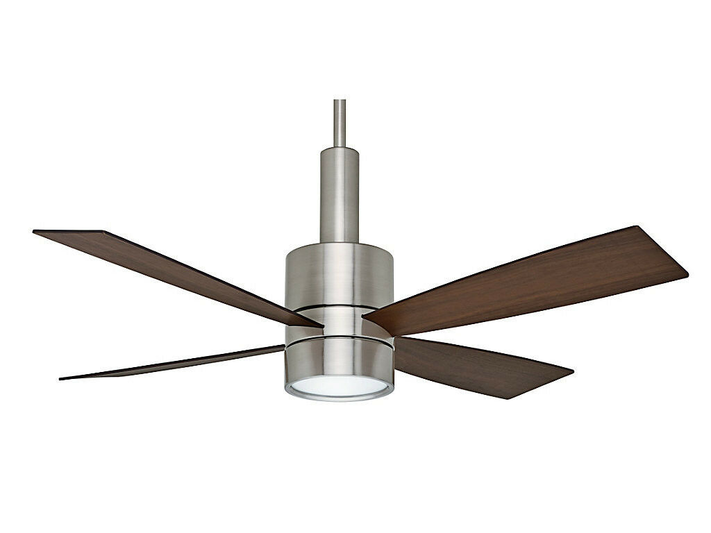 Contemporary Ceiling Fans Brushed Nickel Casablanca 54 Quot Bullet Contemporary Brushed Nickel Wall