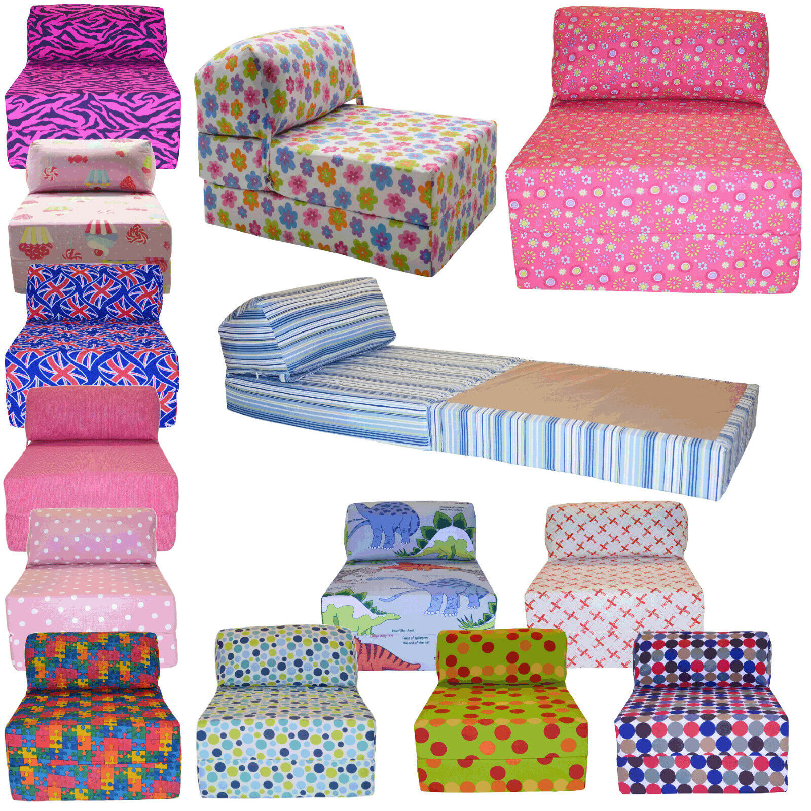 Single Fold Out Sofa Bed Cotton Print Single Chair Bed Z Guest Fold Out Futon Sofa