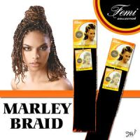 Femi Collection Marley Braid Kanekalon Kinky Braiding Hair ...