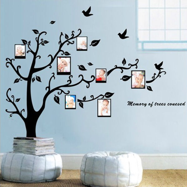 photo frame black tree removable decal room wall sticker hot ebay wallpops baroque wall decals