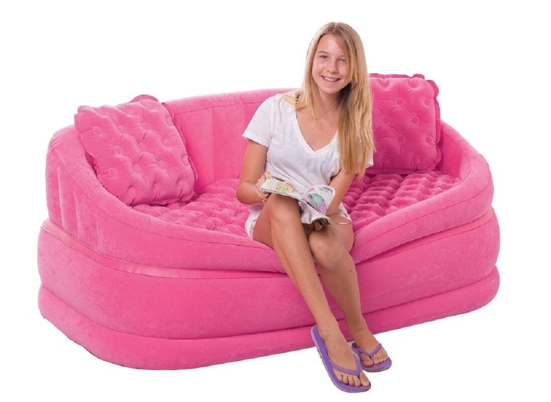 Hello Kitty Sessel Intex Cafe Love Seat Pink Sessel Sofa Couch Aufblasbar