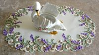 """SUMMER'S HUMMERS Lace 27"""" Table Runner Doily Hummingbird ..."""