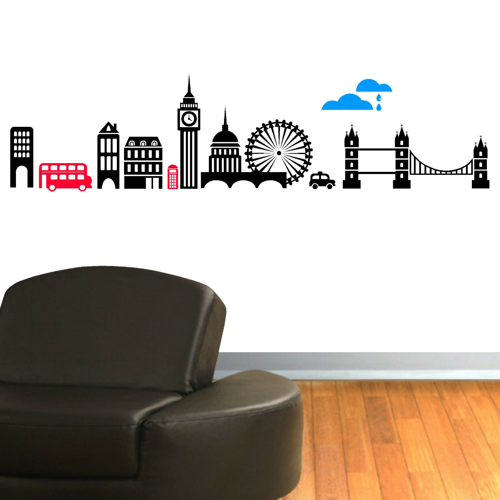 Vinyl Wall Decal London Skyline Vinyl Wall Art Sticker Decal Mural Ebay