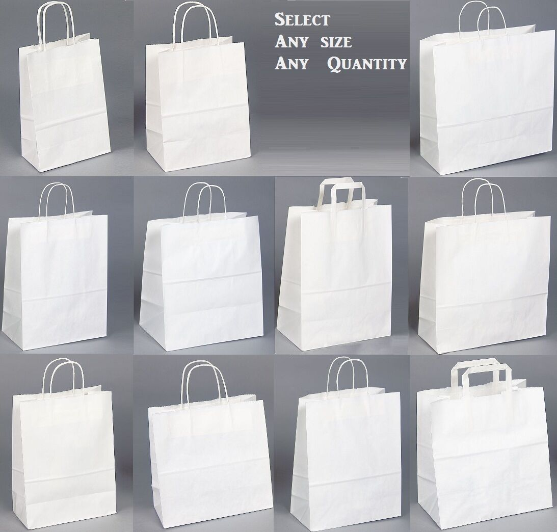 Paper Gift Bags Wholesale White Kraft Paper Shopping Bag Wholesale Bags Store Gift Bags