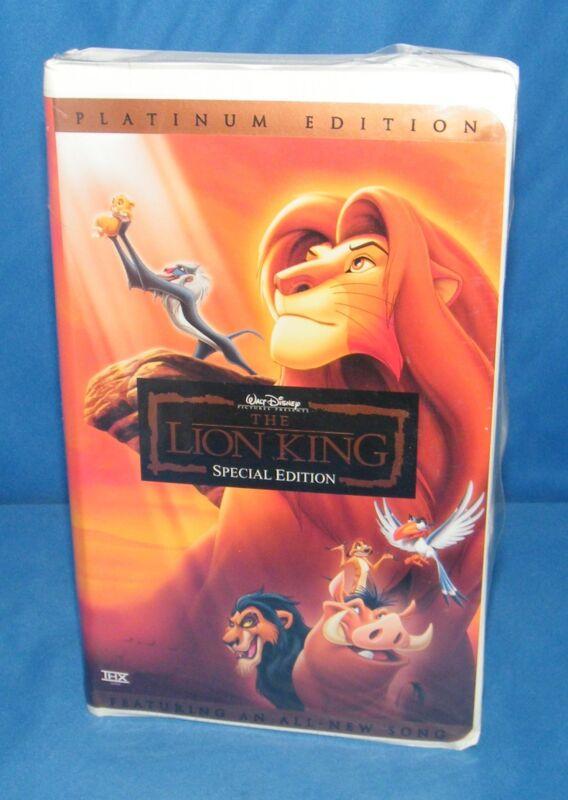 the lion king platinum edition 2003 vhs
