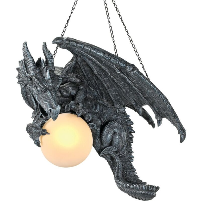 Dragon Décoration Medieval Twilight Dragon Ceiling Light. Gothic Home Decor